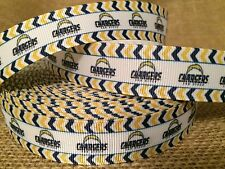 """2 Yards 7/8"""" SAN DIEGO CHARGERS Grosgrain Ribbon - # 2"""