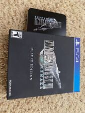 Final Fantasy Vii Remake Deluxe Edition Physical Steelbook Cover Free Shipping