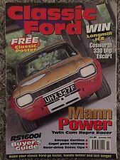 Classic Ford Nov 1998 cosworth escort cortina capri Rs1600i anglia
