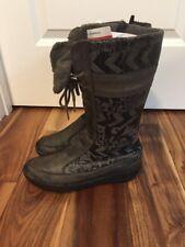 Teva Womens 7 / 38 Kiru Gray Mid-Calf Winter Boots Shoes Faux Shearling Leather