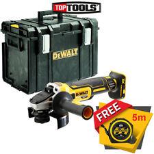 DeWalt DCG412 18V XR Cordless Angle Grinder with DWST1-70703 Case /& Free Tape 5M