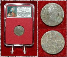 Coin King Of Spain FERDINAND VII Cross Castles And Lions On Reverse 2 Maravedes