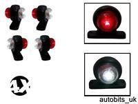 4 X MINI SIDE RUBBER LED MARKER LIGHTS TRAILER TRUCK LORRY CAMPER 12 V 12VOLT
