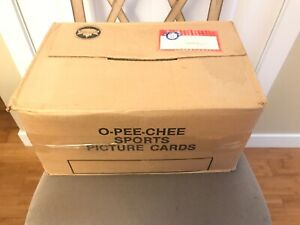 1986 OPC O-Pee-Chee Baseball Cut Card Vending Case