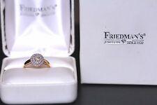 Friedman Over Half .57 Carat Diamond Engagement Anniversary Ring 14K Yellow Gold