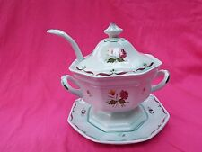 ADAMS Small Tureen with Stand and Ladle Green CALYX WARE