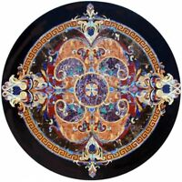 """36"""" Marble Coffee Round Table Top pietra dura Work Inlaid Floral home Decor"""