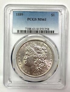 1889 Morgan Silver Dollar - PCGS MS61