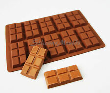 10 cell 6 Section Chocolate Bar 27g Candy Professional Silicone Mould Mold N079