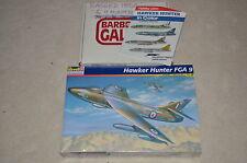 1/32 REVELL 2 HAWKER HUNTER FGA 9 + HAWKER HUNTER in COLOR book; Kits #4670