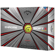 Callaway Chrome Soft X Golf Balls Yellow One Dozen 2018 Version