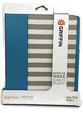 Griffin Blue Cabana Stripe Elan Folio Case for iPad 2, 3, and 4th Gen w/Stand