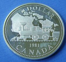 Canada 1 dollar 1981 100th Anniversary of the Trans - Canada Railway PR/XF-UNC.
