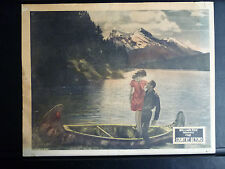 1926 THE COUNTRY BEYOND - COUPLE IN A CANOE ON A MOUNTAIN LAKE LOBBY CARD SILENT