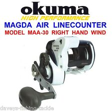 Okuma Magda Air Maa30 Multiplier Reel Level Wind Line Counter Fishing Boat Cod