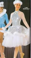 Christmas  Dance Costume lyrical ballet  skate  pageant silver bells