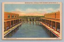 State University Swimming Pool Baton Rouge LA Louisiana Postcard