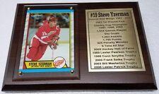 Detroit Red Wings Steve Yzerman Hockey Card Plaque