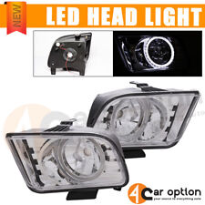 Fits 2005-2009 Ford Mustang Halo Headlights Lamps Left Right Pair Set