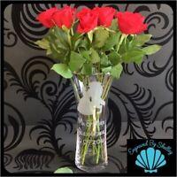 Beauty & The Beast Glass Vase Disney Wedding Gift New House Warming Birthday