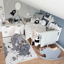 140x90cm Children Kids Play Game Floor Rug World Map Carpet Blanket Room Mat