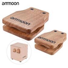 ammoon Large & Medium 2pcs Cajon Box Drum Companion Accessory Castanets L3Q3