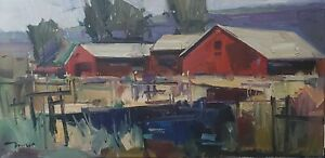 JOSE TRUJILLO Oil Painting IMPRESSIONISM ORIGINAL HOUSES CONTEMPORARY ARTWORK
