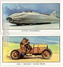 1903 Mercedes Gordon Bennet Racer Eyston's 'Thunderbold' 2 Vintage Ad Cards