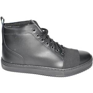 scarpe uomo sneakers alta man vera pelle fondo nero antiscivolo made in italy el