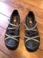 J-41 ADVENTURE On Vegan Sideline Mary Jane Shoes WJ06SIDO Size 8 Black
