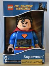 LEGO - DC Universe Super Heroes - Superman Minifigure Clock - New - In-Stock