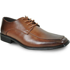 BRAVO New Men Dress Shoe MILANO-2 Classic Oxford Square Moc Toe Leather Lining