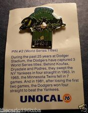 """DODGERS UNOCAL 76 """"WORLD SERIES TITLES"""" PIN #2 NICE PIN"""