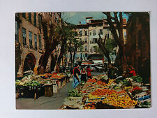 Grasse Alpes-Maritimes French colour Postcard c1970s  Market in the Old Town