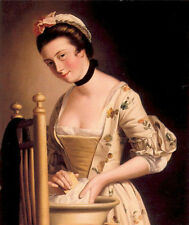 Oil painting Morland Henry Robert English artist Wash handkerchief Hand painted
