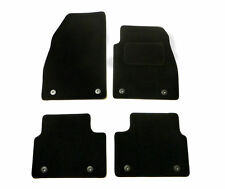 Tailored Fit Black Carpet Floor Mats 4 Car Mat Set for Vauxhall Insignia (13-17)