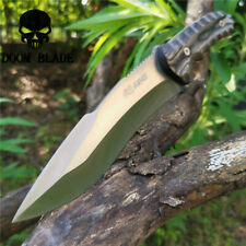 12IN Tactical Knife Army Fixed Blade Rescue KNIVES Wood Handle Military Knifes