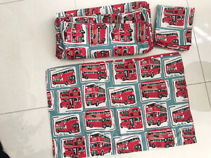cath kidston Red Bus Signle Bed Set With Pillowcases New