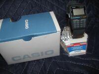 RARE NEW Vintage Casio Telememo 30 Data Bank Calculator Watch Needs Battery
