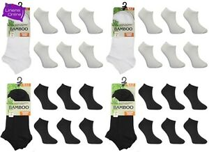 12 Pairs Mens Women Bamboo Trainer Ankle Socks Soft Breathable Odour Resistant