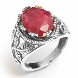 awesome red kashmir ruby sterling ring N