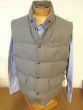 Ralph Lauren Purple Label Lloyd Grey Wool Shell Down Vest NWT  XXL $1295