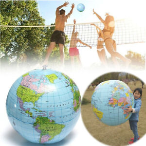 Large 90cm Inflatable World Earth Globe Atlas Map Geography Beach Ball Toy party