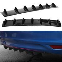 "Shark Fin Universal Car Rear Bumper Lip Diffuser 33""x 6"" ABS 7 Fin Black"