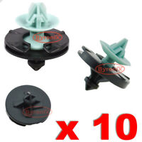 VW GOLF MK3 VENTO DOOR PANEL CARD TRIM CLIPS INTERIOR PLASTIC GREEN BLACK X 10