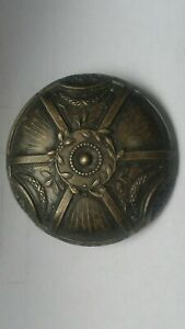 Antique Brass silver plated ? BUTTON, large