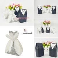 100 x Wedding Favor Candy Box Chocolate Box Bride Groom & Dress Tuxedo Gift Kit