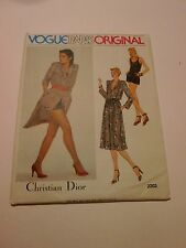 VOGUE Paris Original CHRISTIAN DIOR Pattern 8 Dress Top Shorts 2203 UNCUT