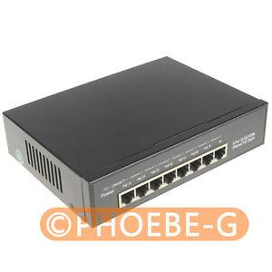 ALL Gigabit 120W 8 Ports 24V Passive PoE Switch Injector UniFi AP UAP AC LITE LR