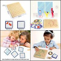 Montessori Wooden Geoboard Mathematical Manipulative Material Array Block Geo